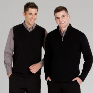 Mens 1/2 Zip Wool Rich Pullover
