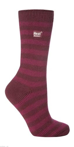 Ladies Striped Thermal Socks
