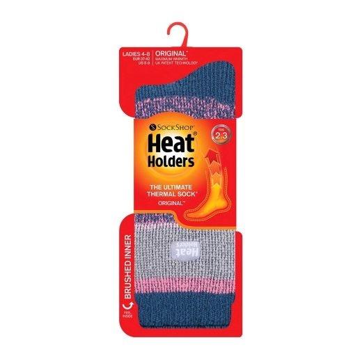 Ladies Striped Thermal Socks