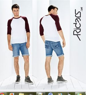 Mens Rider R2 Roll Up Jean Short