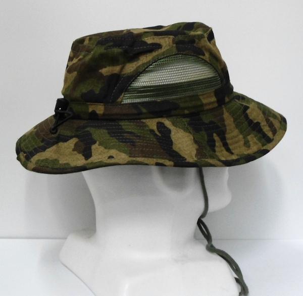 Wide Brim Hat with Mesh Window