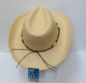 Straw Beaded Wide Brim Hat