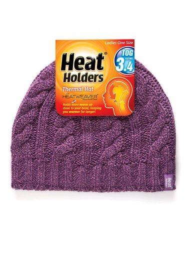Heat Holder Ladies Cable Beanie