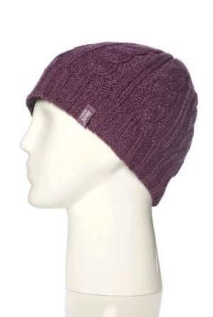 Heat Holder Ladies Cable Beanie