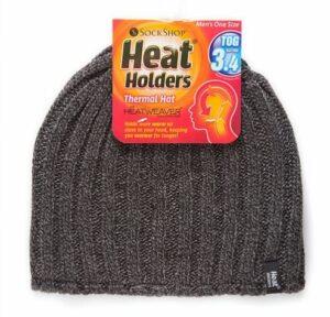 Heat Holder Mens Ribb Beanie