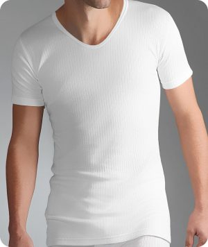 Mens thermal v neck short sleeve top