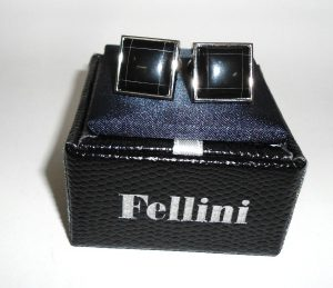 FELLINI Black Onix Cuff Links