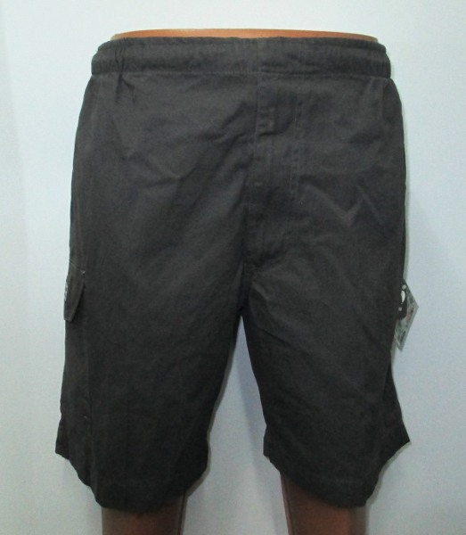 Bar-tac Cotton Canvas Elastic Waist Short