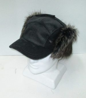 Accordian Flap Cap with Fur Trim
