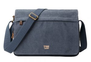 Troop London Classic Flap Front Messager Bag- Blue