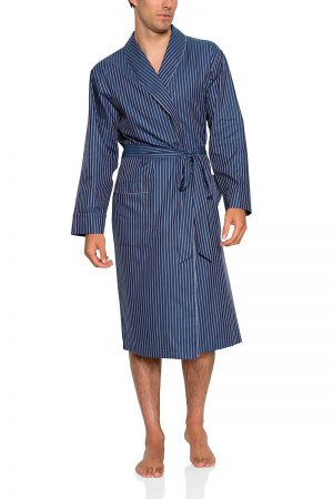 Pierre Cardin Cotton Men's Robe-Blue Strip