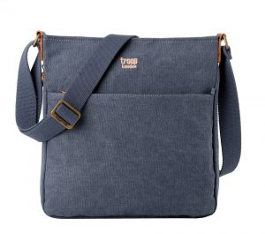 Troop London Classic Zip Top Shoulder Bag - Blue