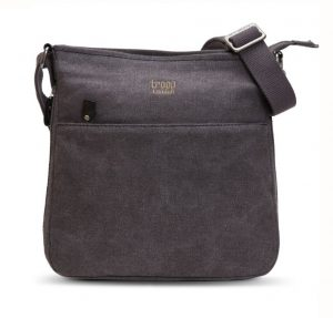 Troop London Classic Zip Top Shoulder Bag - Black