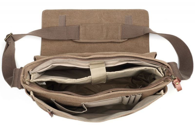 Troop London Classic Flap Front Messager Bag- Brown