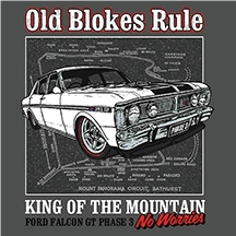 Old Blokes Rule King Of The Mountain Tee
