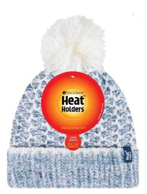 Ladies Heat Holders Heat Weaver Lund Pom Pom Hat