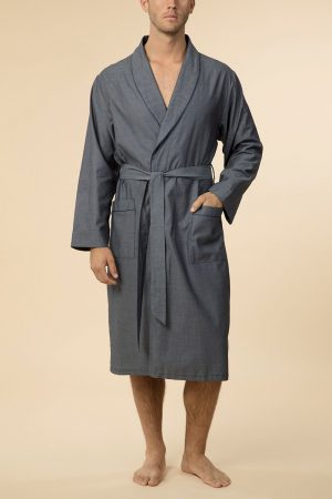 Pierre Cardin Calais 100% Cotton Robe-Grey