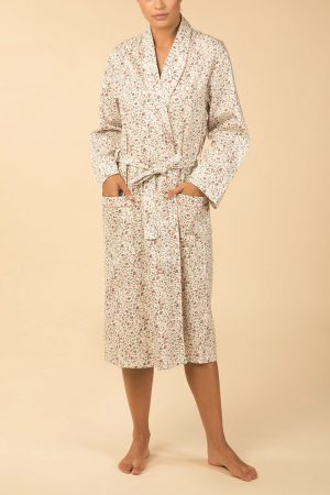 Pierre Cardin 100% Cotton Catherine Robe -Ivory