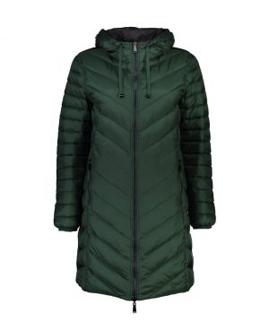 Moke' Womens Long Hooded Reversible Packable Duck Down Jacket-Arnie