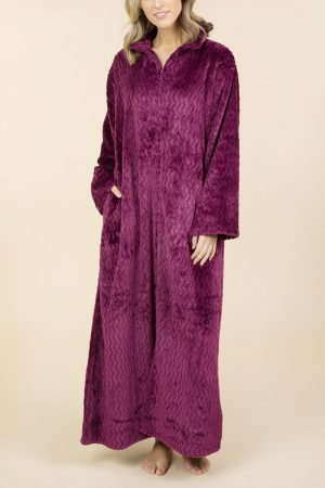 Pierre Cardin Beatrice Soft Fleece Zip Front Gown