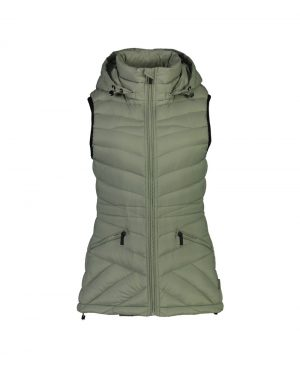 Moke' Mary-Claire Pack-able Down Vest - Sage