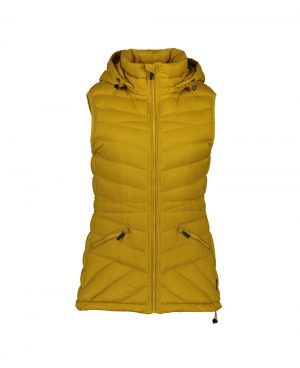 Moke' Mary-Claire Pack-able Down Vest - Saffron