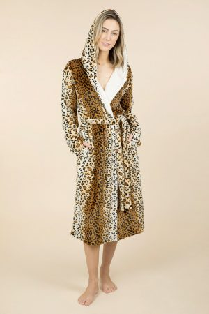 Pierre Cardin Amelie Hooded Mid-Length Robe