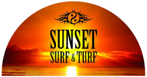 Sunset Surf & Turf Logo
