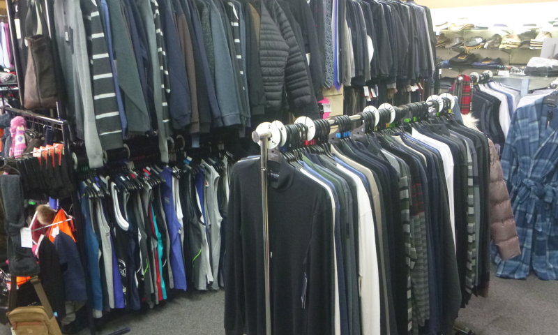 Quality clothing on racks