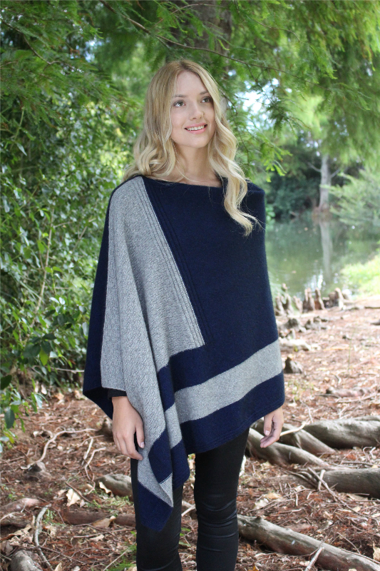 Cosset Poncho Midnight Silver
