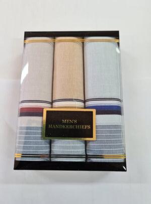 Men's Boxed Striped Hankies