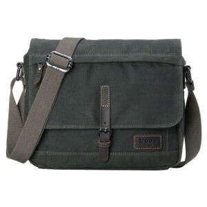 Troop London Messager Bag Dark Green